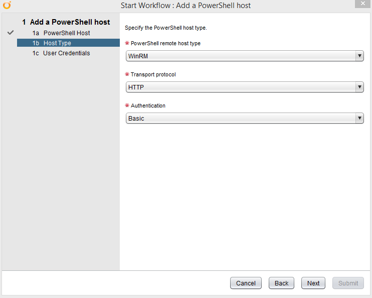 vCO Powershell - Add Host Configuration