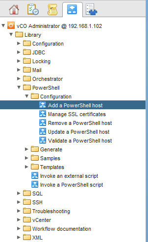 vCO Powershell - Add Host Workflow