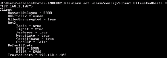 vCO Powershell - winrm allowunencrypted