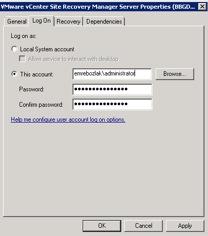 SRM service login