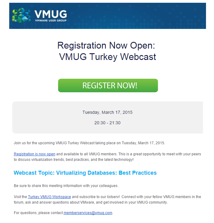 VMUG Turkey- Database best practices