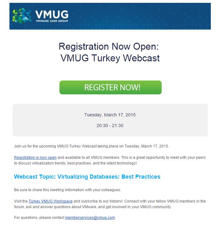 VMUG Turkey- Database best practices