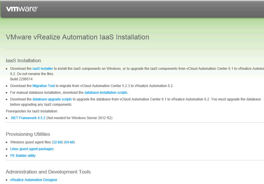 vRealize Automation Upgrade 6.1 to 6.2 - IaaS upgrade