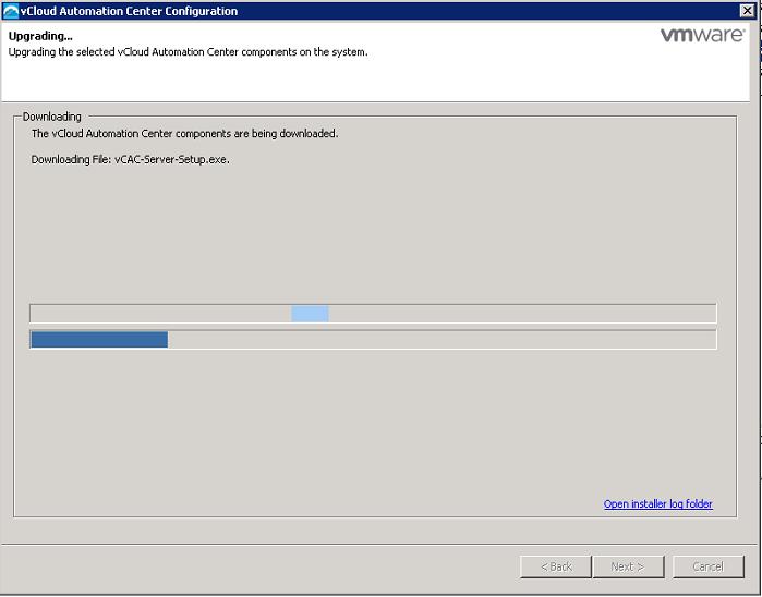 vRealize Automation Upgrade 6.1 to 6.2 - Upgrade start