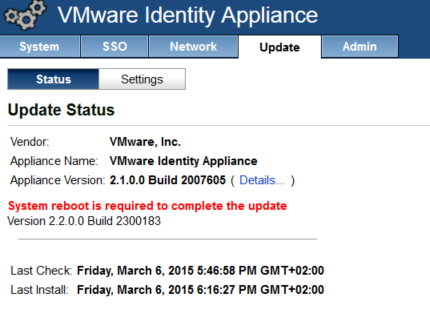 vRealize Automation Upgrade 6.1 to 6.2 - upgrade complete