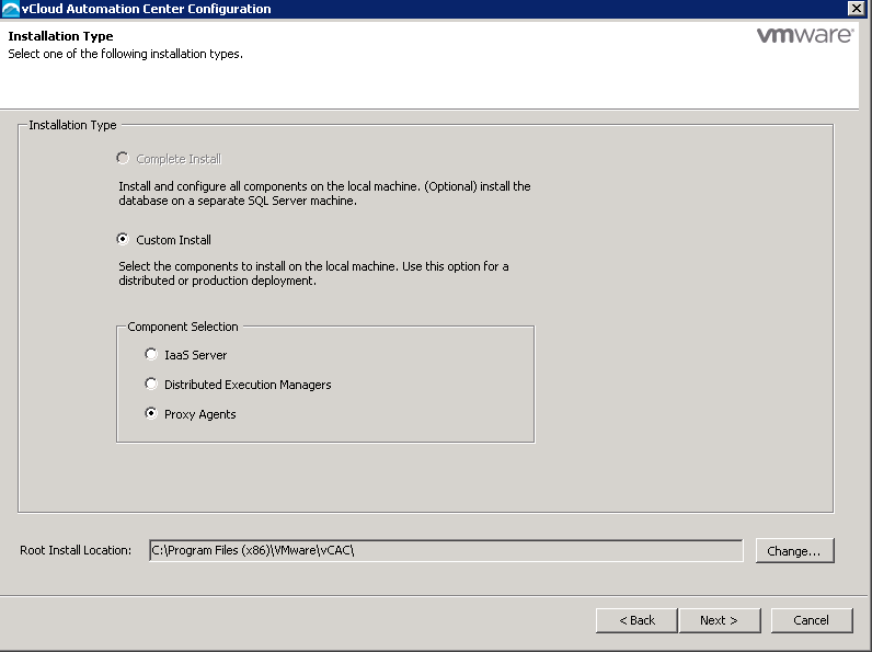 vRA additonal Endpoint - Configuration 1